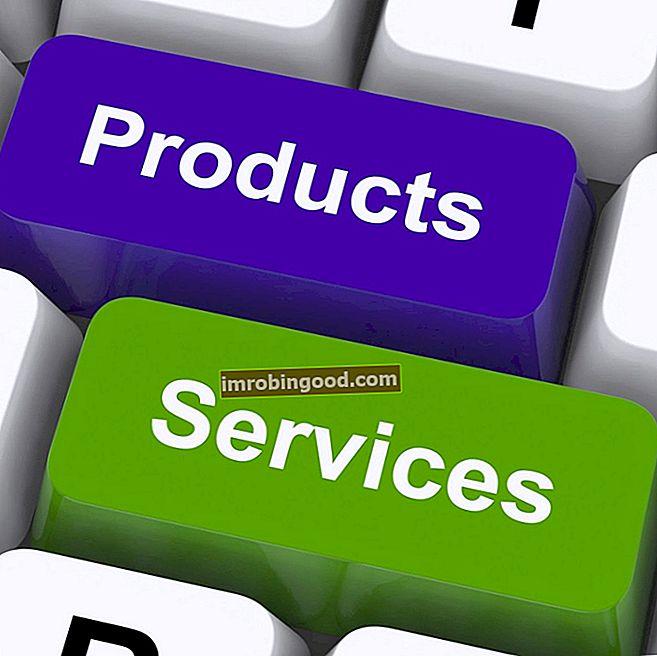 Mitä ovat tuotteet ja palvelut?