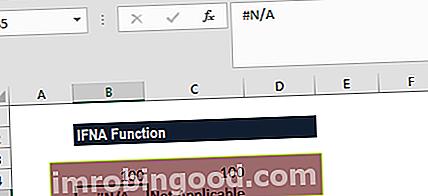 Mikä on IFNA-toiminto Excelissä?