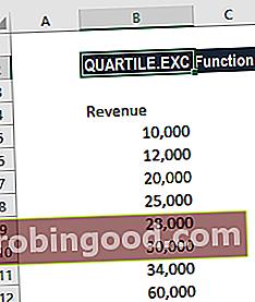 Mikä on QUARTILE.EXC-toiminto?