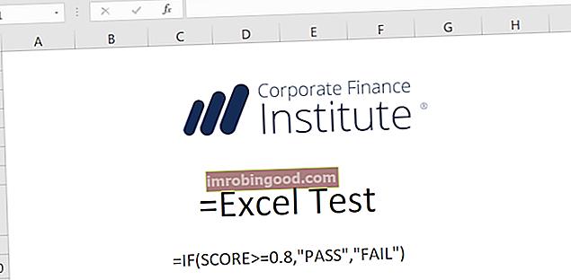 Proveďte test Excel CFI