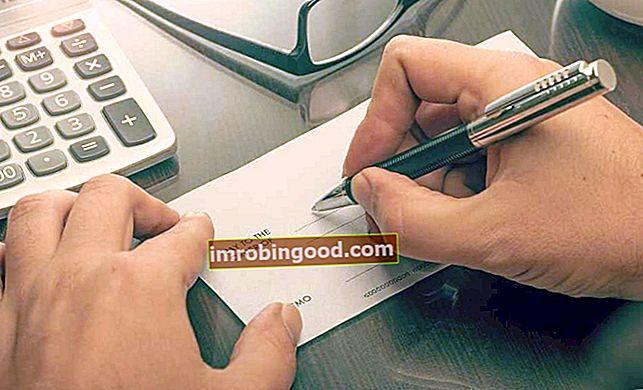 Průvodce, jak napsat šek