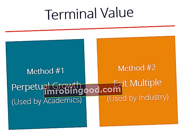Co je vzorec hodnoty terminálu DCF?